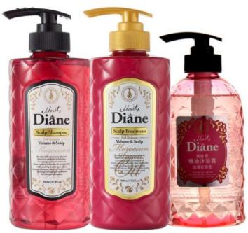 Diane黛丝恩洗护沐浴套装(粉)